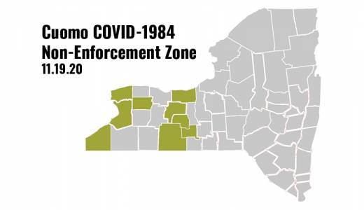 Law Enforcement Officials in Nine WNY Counties Won't Enforce Cuomo 10-Person Limit